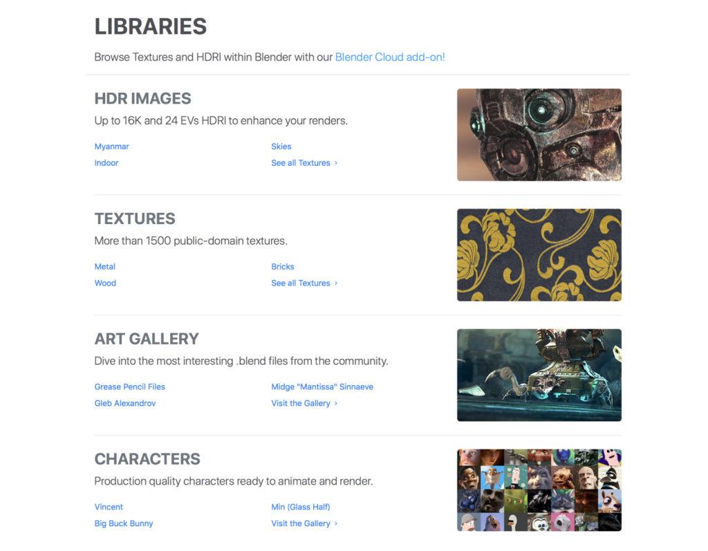 Librariesのトップページ