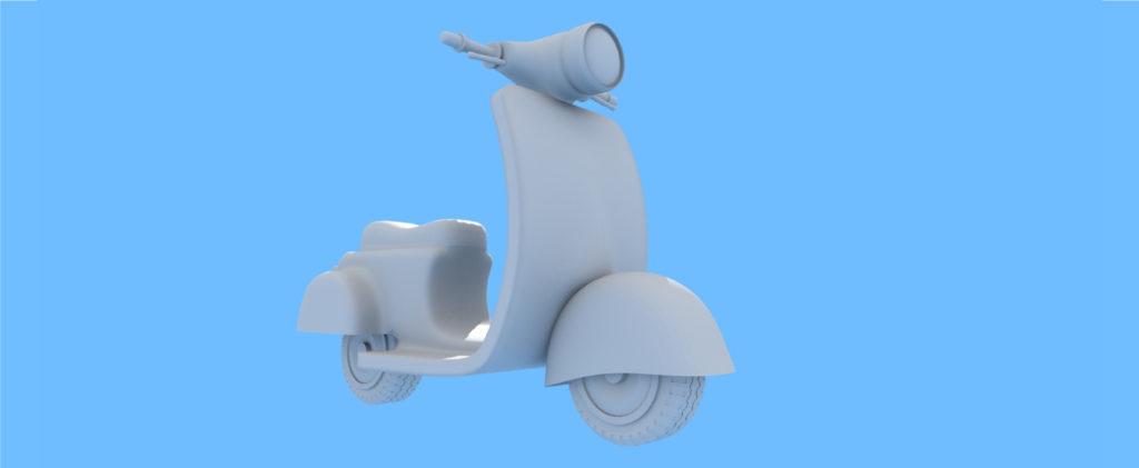 バイクのモデリング画像