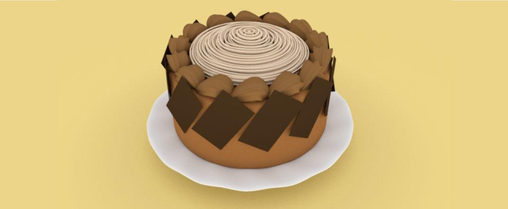 ケーキのモデリング画像