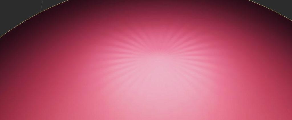 UV球頂点のとがりイメージ