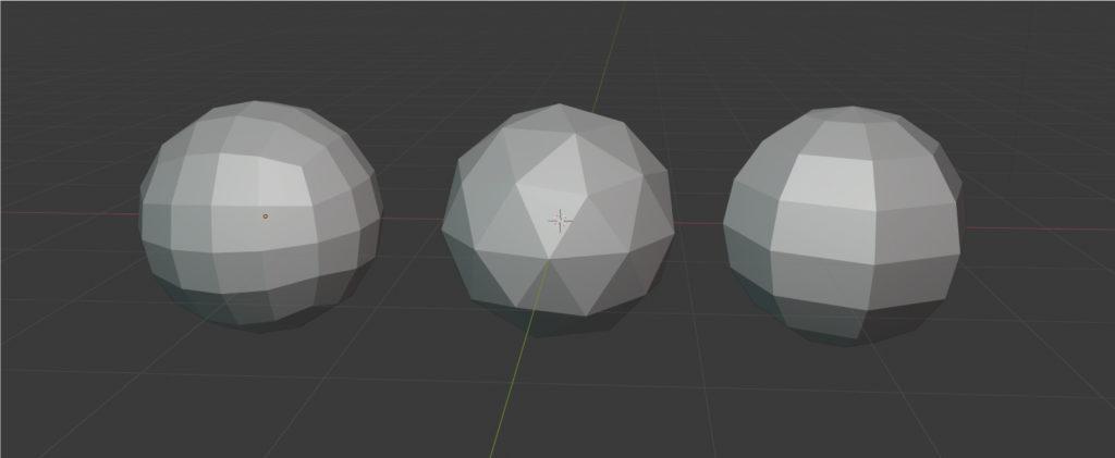 ラウンド球、ICO球、UV球の画像